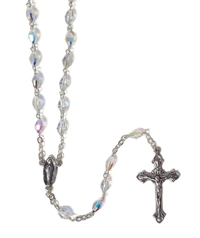 Rosary Sterling Silver Swarovski Crystal Sterling