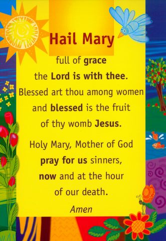 Prayer Card: Hail Mary Children