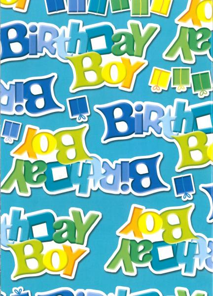 Wrapping Paper Birthday Boy