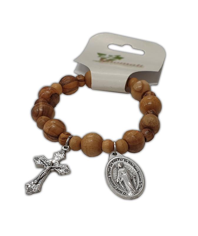Rosary Bracelet Olive Wood Beads