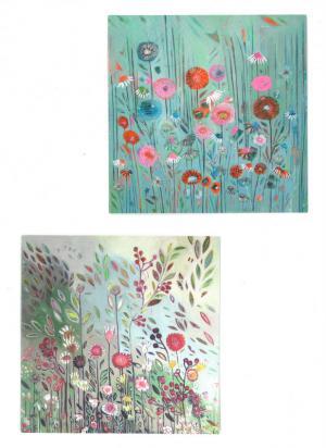Card: Blank, Wild Flower Meadow 2 Designs - Blank Cards ...